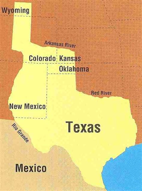 republic of texas map boundaries of the republic of texas