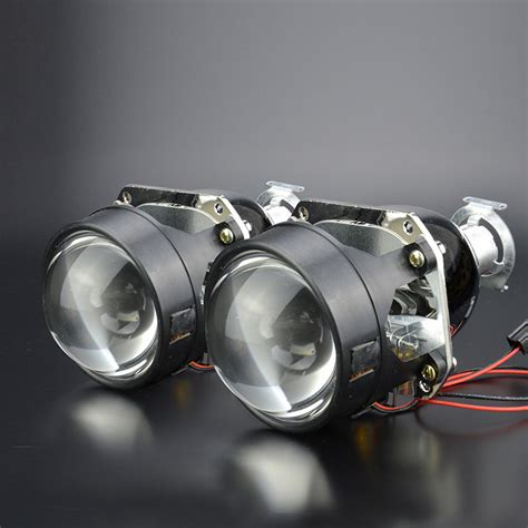 Projector Hid gztophid car styling kit 2 5 h1 hid bifocal projector headlight lens for h4 h7 socket and high