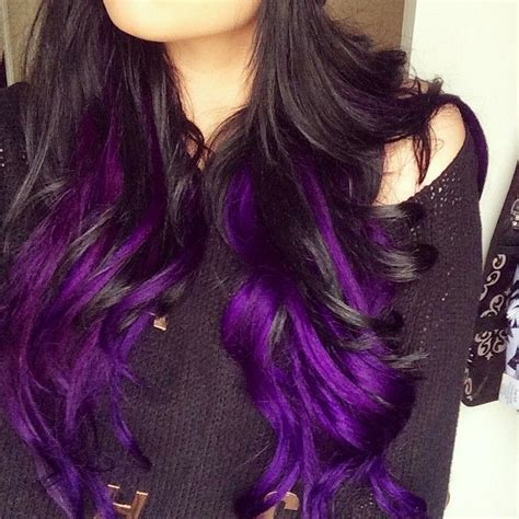 Black And Purple Hairstyles by 25 Best Ideas About Purple Highlights On
