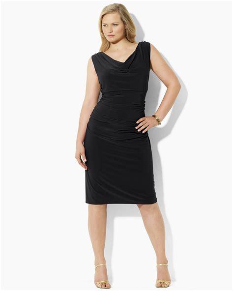 Art Comforter Lauren Ralph Lauren Dress Plus Size Sleeveless Cowlneck