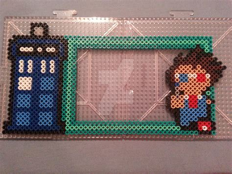 bead frame doctor who perler bead magnetic frame by ashmoondesigns on