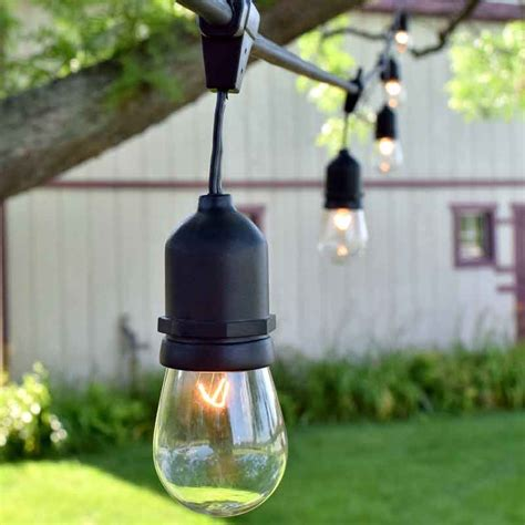 Patio Light Strands 100 Ft Commercial Outdoor String Lights Drop Socket