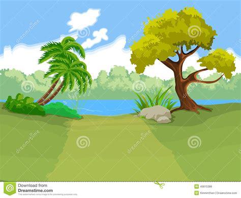 desenho paisagens o fundo dos desenhos animados paisagem