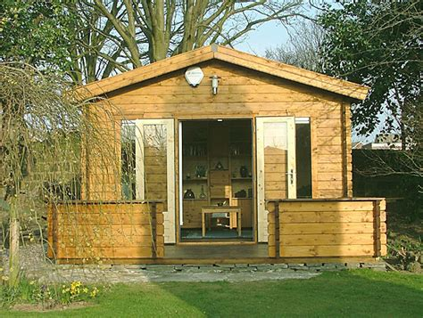 dog shed house dog house workshop studio from far end of garden in deepest west yorkshire owned by