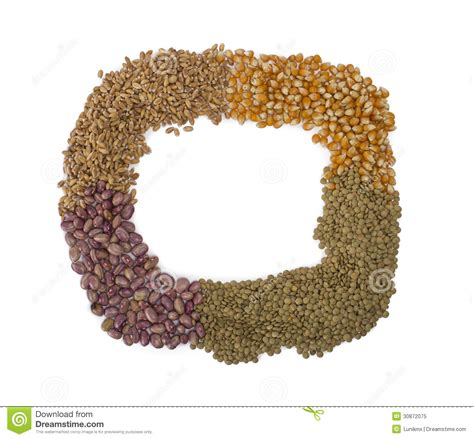 how seed are made frame made from grains and seeds royalty free stock photo