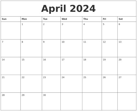 printable calendar sheets april 2024 printable calendar pages