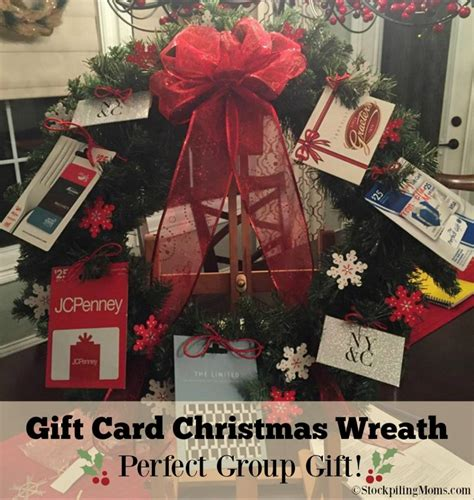 Gift Card Wreath - gift card christmas wreath