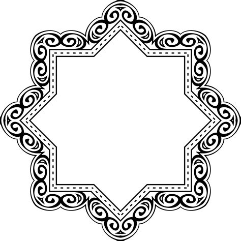 arabesque pattern png geometric decorative arabesque border and frame image id