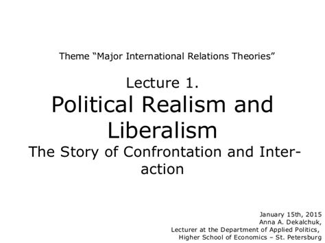 is this the end of the liberal international order the munk debates books lecture1 realism and liberalism