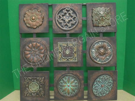 square metal wall hanging home accent decor art floral vintage rustic modern ebay