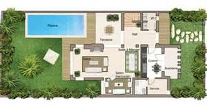 plan villa en bande rez de chauss 233 e prestigia luxury
