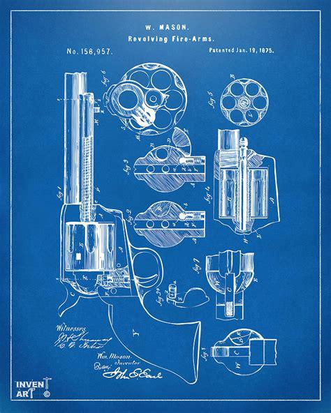Create Blueprints Free Online 1875 colt peacemaker revolver patent blueprint digital art