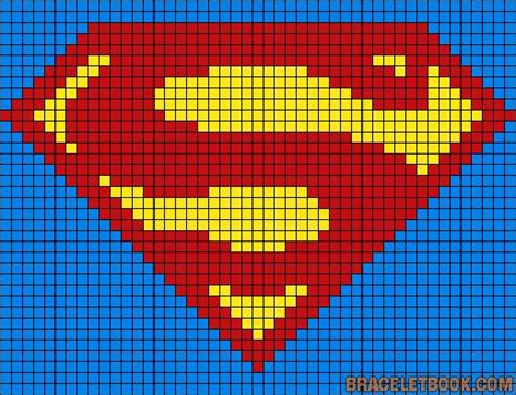superman logo pattern knit 54 best images about perles on pinterest perler bead