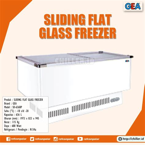 Gea Sliding Flat Glass Freezer jual sd 636bp sliding flat glass freezer gea harga murah