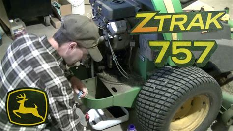 john deere  ztrak  turn yearly maintenance youtube