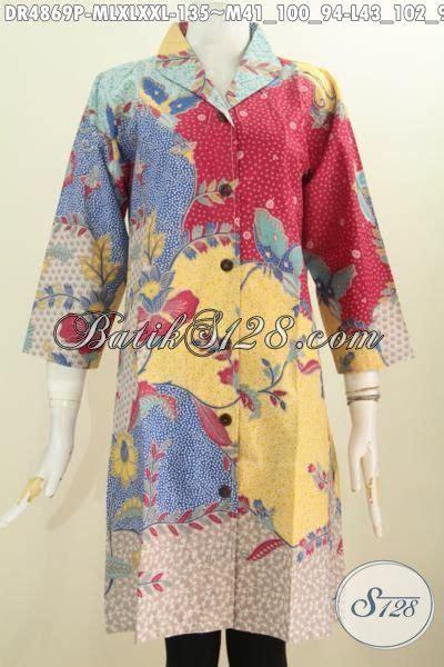 desain baju batik santai dress batik halus desain mewah bahan adem proses printing