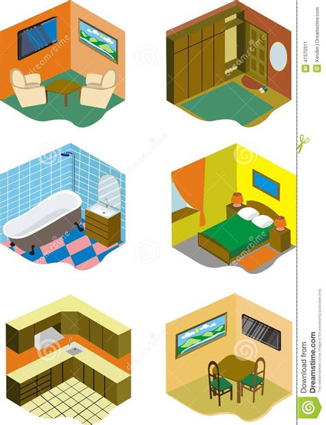 pictures of rooms in a house rooms in house stock vector illustration of dinner bath