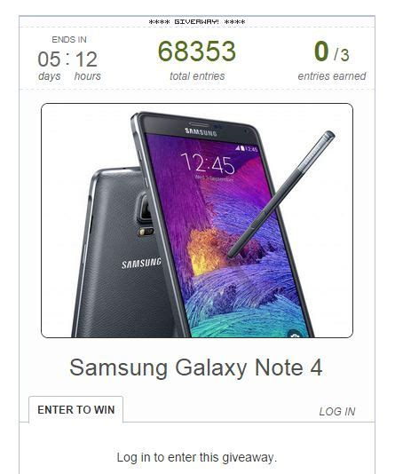 samsung galaxy note 4 giveaway international samsung galaxy note 4 giveaway international