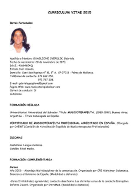 Modelo Curriculum Acompañante Terapeutico Curriculum Vitae Camila Gonz 193