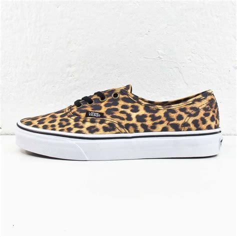 Sepatu Vans Leopard Brown vans authentic leopard black brown paxanga