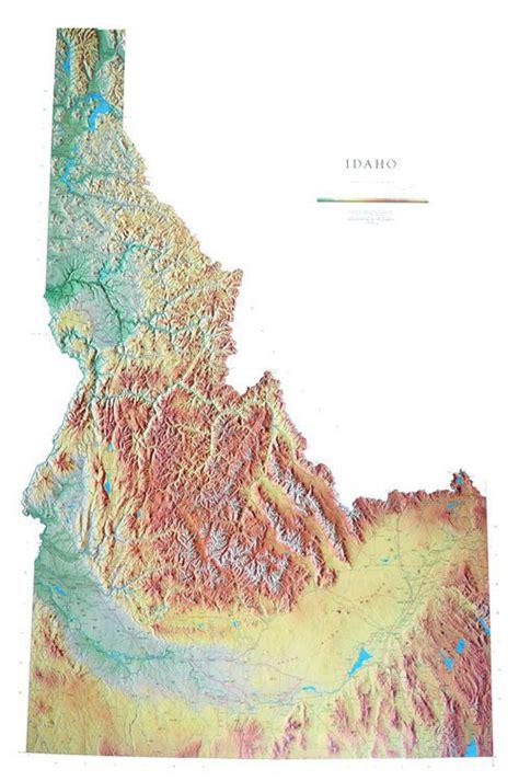 idaho physical map idaho wall map a spectacular physical map of idaho