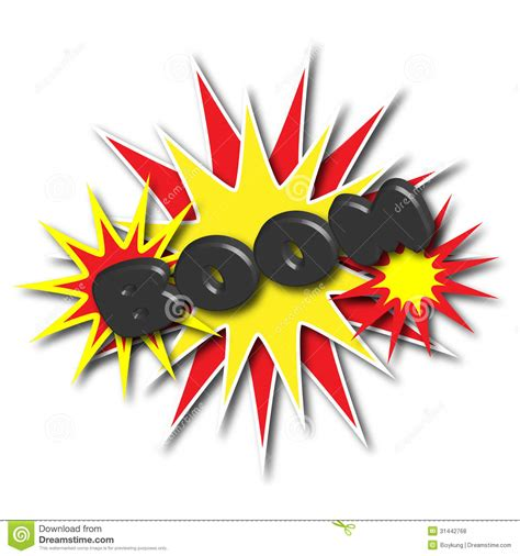 Cartoon explosion stock illustration. Image of dynamite ... Explosion White Background