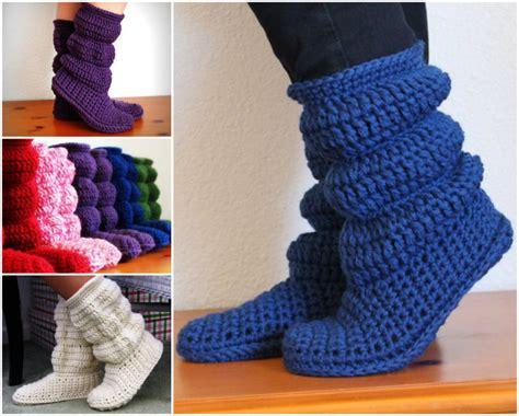 hollydoll crochet boot slippers pattern free knitted crochet slipper boots patterns