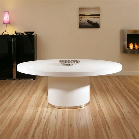 modern luxury large oval white gloss dining boardroom