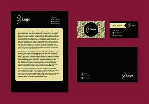 Letter Card Design Letter Design Business Cards Corporate Identity Stationery Free Vector