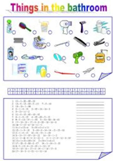 Things In The Bathroom In by Intermediate Esl Worksheets Things In The Bathroom