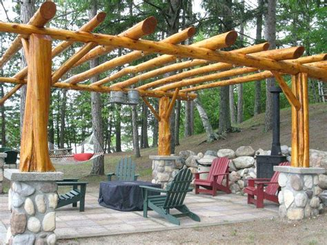 log cabin style patio furniture log pergola log cabin