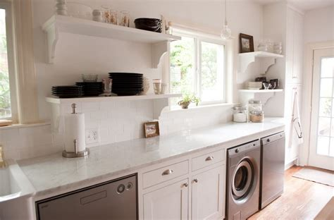 Laundry In Kitchen Design Ideas by Laundry Kitchen Functional Space Combination Small