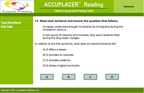 reading comprehension test accuplacer reading comprehension online programs descargardropbox