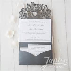 Pocket Wedding Invitation Templates by Tri Fold Wedding Invitations With Pocket Template
