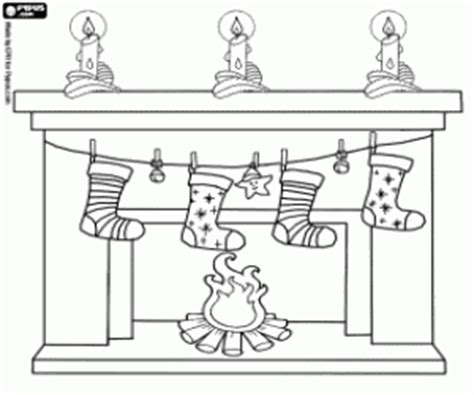 coloring pages of christmas fireplace chimneys and fireplaces on christmas coloring pages