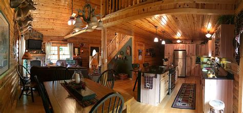 interior log home open floor plan valley log homes
