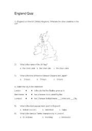 printable quiz about england english worksheets england quiz long version