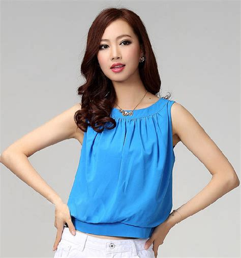 Sweet Tops From Ruche by Fashionable Sweet Ruched Collar Color