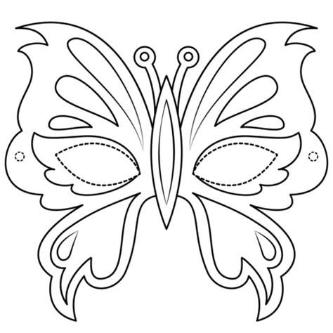 butterfly mask coloring page  printable coloring pages