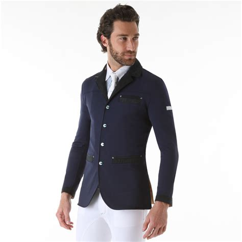 men s riding jackets animo inpiu mens competition jacket blu navy redpost