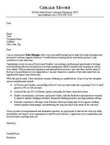 cover letters sles for cover letter sales sle