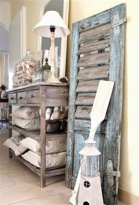 vintage rustic home decor charming coastal interior decorating with shutters completely coastal