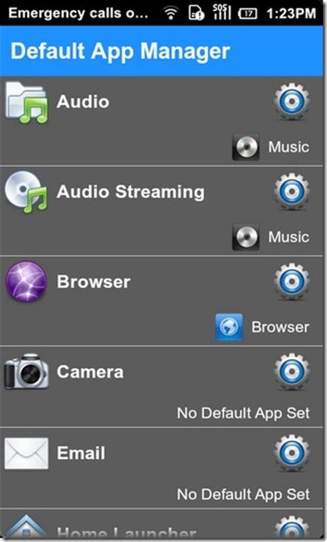 set default app android default app manager clear set default apps for actions android