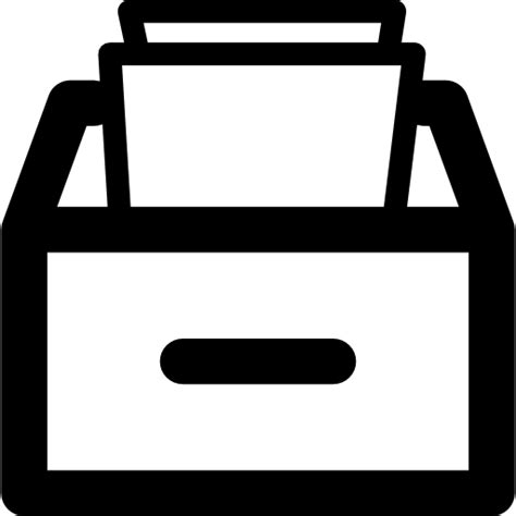 schublade icon drawer with papers free interface icons