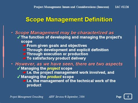 Mba In Information Management Scope by Scope Management Definition