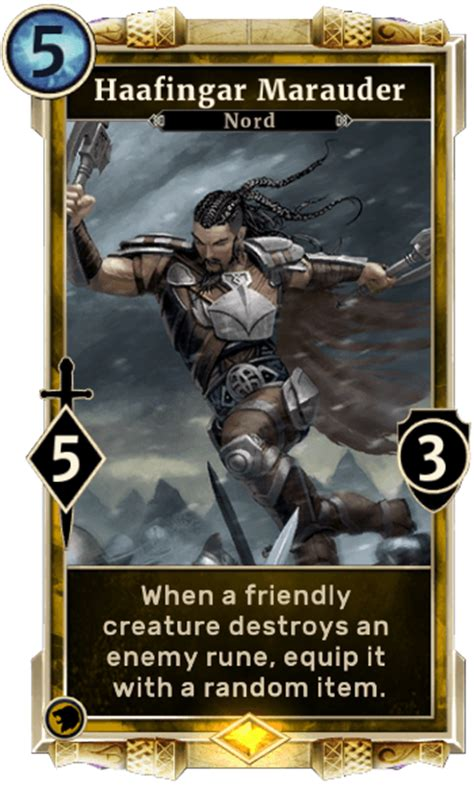 elder scrolls legends card template haafingar marauder elder scrolls legends wiki wiki