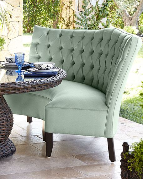 outdoor banquette tufted outdoor banquette mist