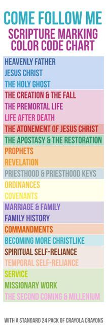 code of many colors lds scripture marking color coding system guide the code