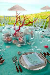themed wedding decorations sea inspired table setting and ideas for your themed
