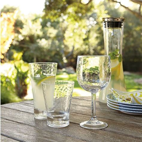 outdoor barware hammered acrylic drinkware modern outdoor drinkware